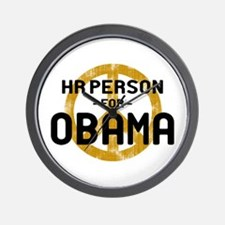 HR Person for Obama Wall Clock