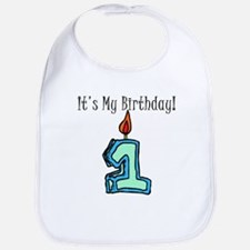 1st Birthday Boy Bib