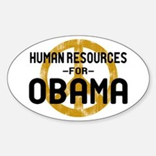 Human Resoueces for Obama Oval Decal