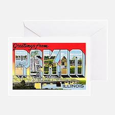 Pekin Illinois Greetings Greeting Card