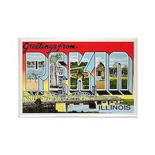 Pekin Illinois Greetings Rectangle Magnet