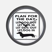 Plan For Day Wall Clock