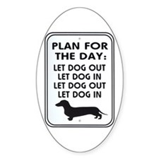 Plan For Day Oval Decal