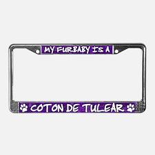 Furbaby Coton de Tulear License Plate Frame
