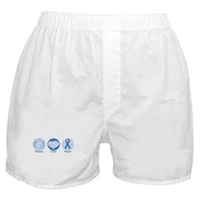 Peace LtBl Hope Boxer Shorts