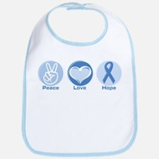Peace LtBl Hope Bib