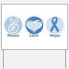Peace LtBl Hope Yard Sign