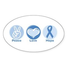 Peace LtBl Hope Oval Decal