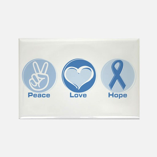 Peace LtBl Hope Rectangle Magnet