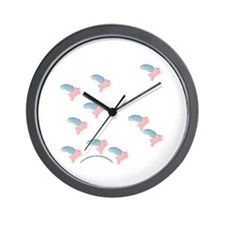 Little Flying Pigs Wall Clock