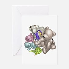 Beige Bear and Friends Greeting Card