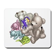 Beige Bear and Friends Mousepad
