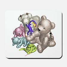 Beige Bear and Friends Mousepad