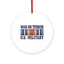War On Terror Service Ribbon Ornament (Round)