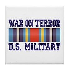 War On Terror Service Ribbon Tile Coaster