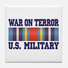 War On Terror Service Ribbon Tile Coaster