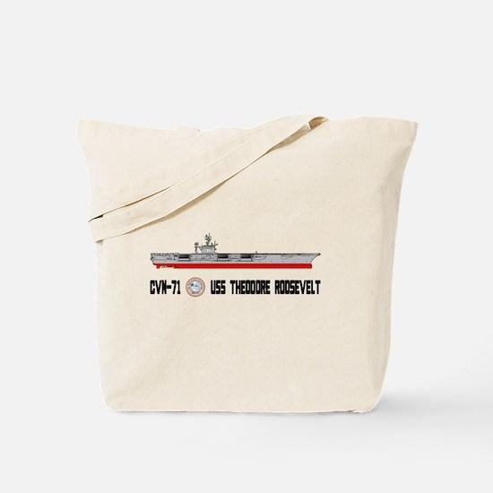 USS Theodore Roosevelt CVN-71 Tote Bag