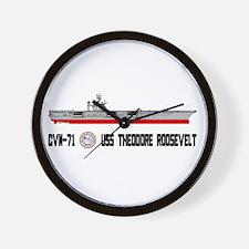 USS Theodore Roosevelt CVN-71 Wall Clock