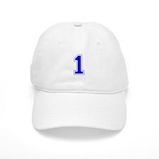 Varsity Font Number 1 Blue Baseball Cap