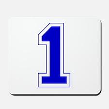 Varsity Font Number 1 Blue Mousepad