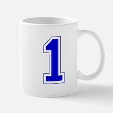 Varsity Font Number 1 Blue Mug