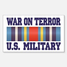 War On Terror Service Ribbon Sticker (Rectangle)