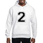 Varsity Font Number 2 Hooded Sweatshirt