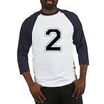 Varsity Font Number 2 Baseball Jersey