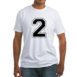 Varsity Font Number 2 Fitted T-Shirt
