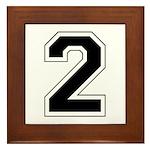 Varsity Font Number 2 Framed Tile