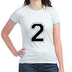 Varsity Font Number 2 Jr. Ringer T-Shirt