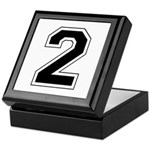 Varsity Font Number 2 Keepsake Box