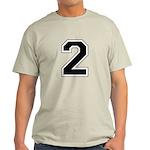 Varsity Font Number 2 Light T-Shirt