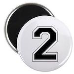 Varsity Font Number 2 Magnet