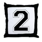 Varsity Font Number 2 Throw Pillow