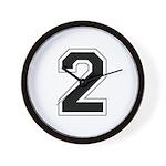 Varsity Font Number 2 Wall Clock