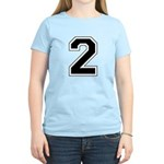 Varsity Font Number 2 Women's Light T-Shirt