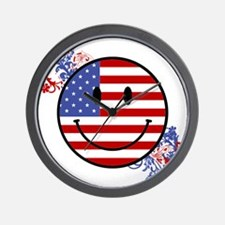 Fourth Of July Smiley Wall Clock