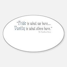 Fitzwilliam Darcy Pride Oval Sticker (10 pk)