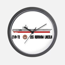 USS Lincoln CVN-72 Wall Clock
