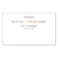 Caroline Bingley Orange Rectangle Sticker 10 pk)