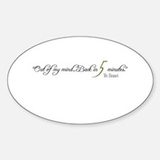 Mr. Bennet Back Oval Sticker (10 pk)