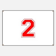 Varsity Font Number 2 Red Banner