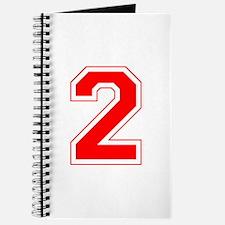 Varsity Font Number 2 Red Journal