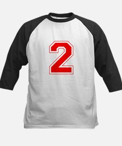 Varsity Font Number 2 Red Tee