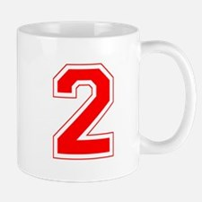 Varsity Font Number 2 Red Mug