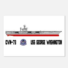USS Washington CVN-73 Postcards (Package of 8)