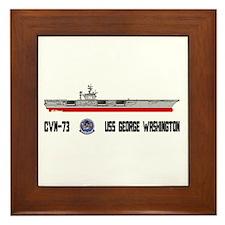 USS Washington CVN-73 Framed Tile