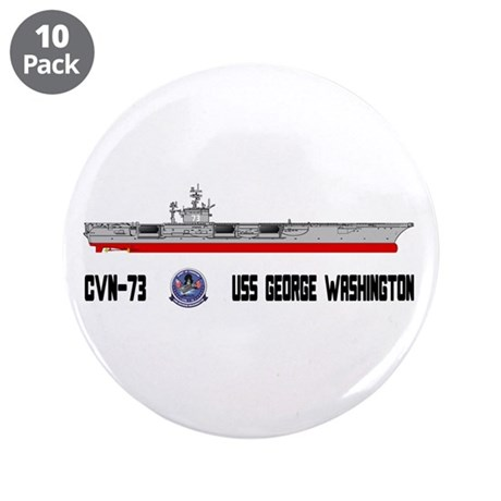 "USS Washington CVN-73 3.5"" Button (10 pack)"
