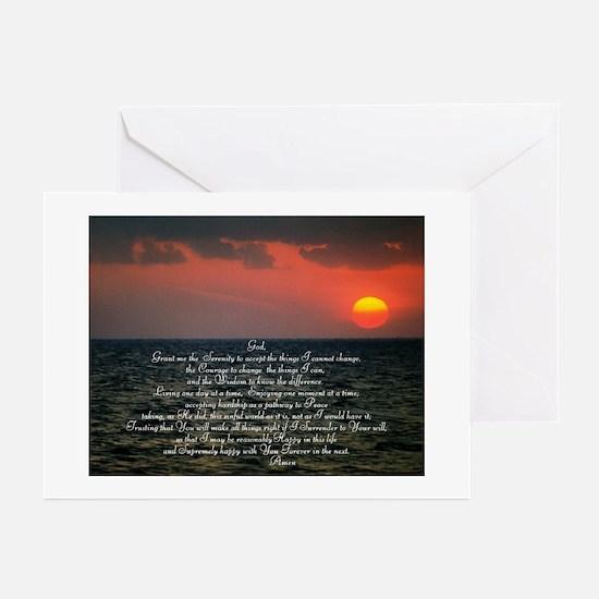 sunrise serenity Greeting Cards